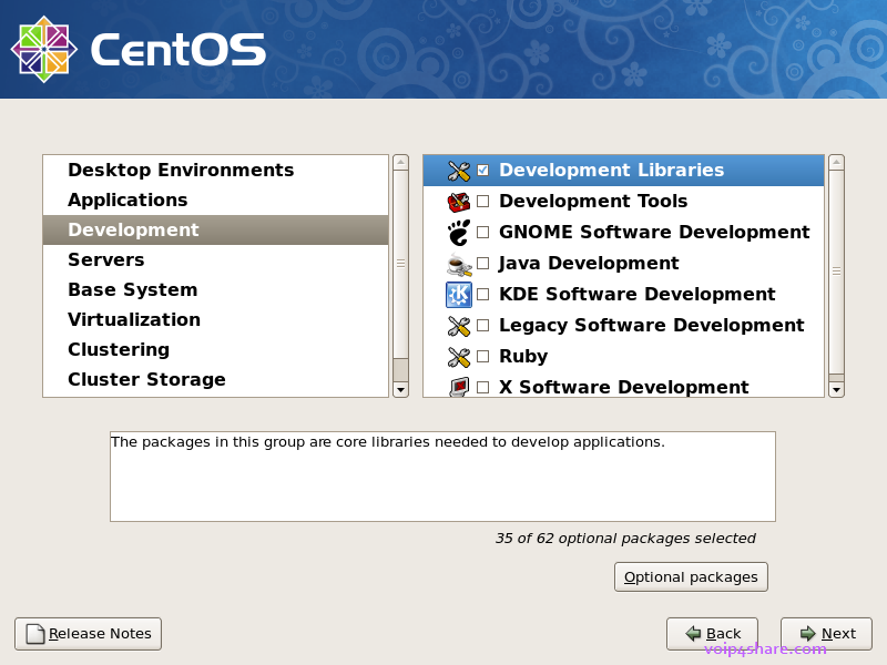vmware-install-centos-enable-development.png